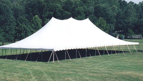 Image of a 60' x 100' Push Pole-Type Tent