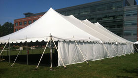 Image of a 60' x 140' Push Pole-Type Tent