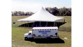 Image of a 60' x 60' Push Pole-Type Tent