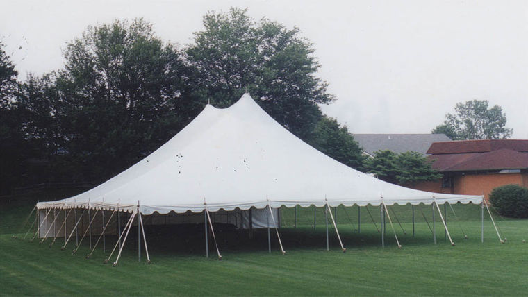 Picture of a 60' x 80' Push Pole-Type Tent