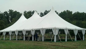 Image of a 40' x 80' High Peak Push Pole Type Tent