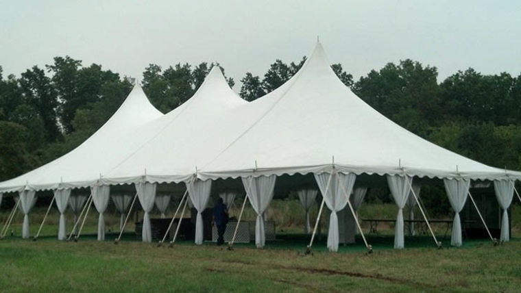 Picture of a 40' x 80' High Peak Push Pole Type Tent