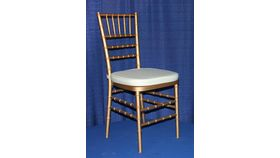 Image of a Chair - Gold Chiavari Ballroom w/ Cream Cushion