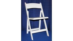 Image of a Chair - White Wood Padded (Kestell)