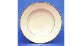 Image of a Saucer - cream/gold