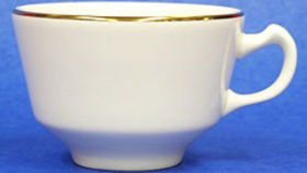 Image of a Coffee Cup - cream/gold