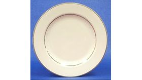 "Image of a Dinner Plate 10"" - cream/gold"