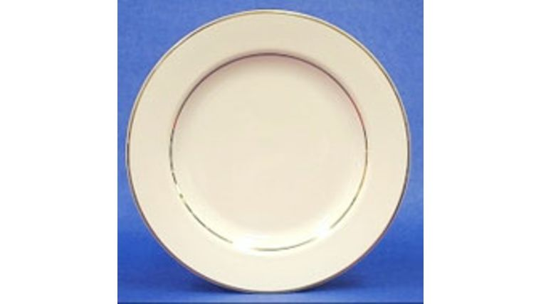 "Picture of a Dinner Plate 10"" - cream/gold"