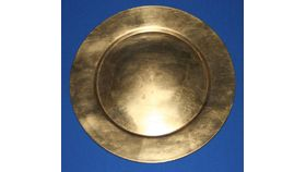 Image of a Gold Plate Charger 13""