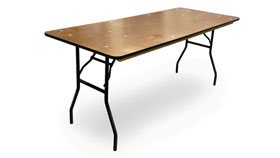 "Image of a Table - 30"" x 6' Wood Children's - 18"" High"