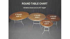 """Table - 60"""" Round (seats eight) image"""