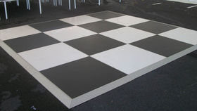 Image of a Dance Floor - Black and White 3 ft. x 3 ft. section