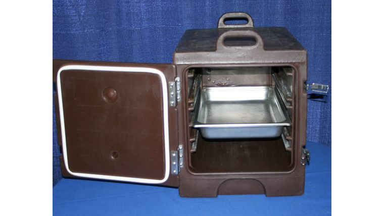 "Picture of a Insulated Food Transport (aka ""Cambro Hotbox"")"