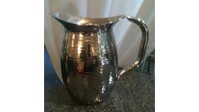 Image of a Pitcher, Hammered Stainless Steel