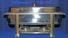 Image of a Stainless Steel Chafing Dish: Full Size w/ 8 qt. pan