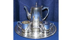 Image of a Coffee and Tea Service 5 pc. w/Tray