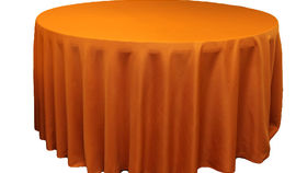"Image of a Cotton - Burnt Orange Tablecloths (120"" Round)"