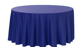 "Image of a Cotton - Royal Blue Tablecloths (90"" Round)"