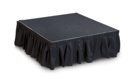 "Image of a Black Stage Skirting (16' x 8"", 15"", 24"", or 30"")"