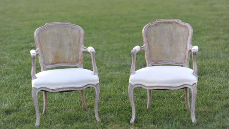 Picture of a The Irvings: Whitewashed Cane Back Chairs