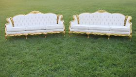 Image of a The Daltons: Twin Ivory Sofas