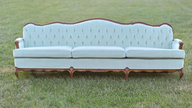 Picture of a Natalie: Mint Tufted Sofa