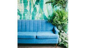 Image of a Barbara: Royal Blue MidCentury Sofa