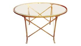 Image of a Mallory Brass Coffee Table