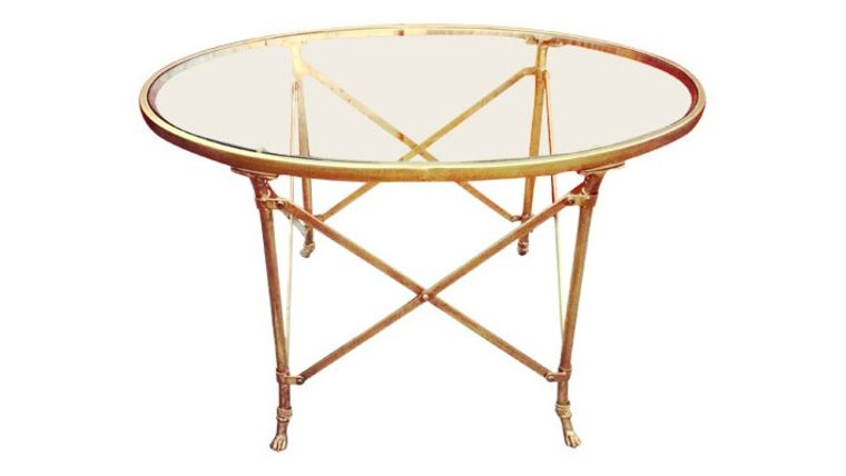 Picture of a Mallory Brass Coffee Table