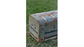 Wayne: Tin Steamer Trunk image