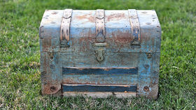 Image of a Wayne: Tin Steamer Trunk