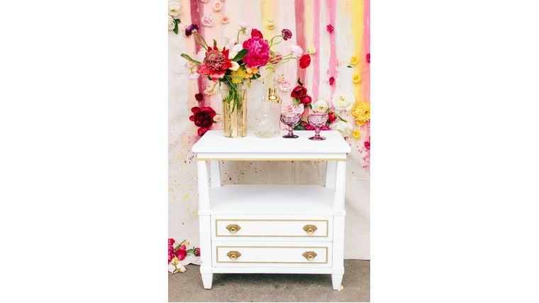 Picture of a Serena White Side Table