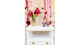 Serena White Side Table image