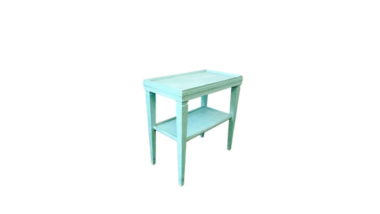 Picture of a Aqua End Table