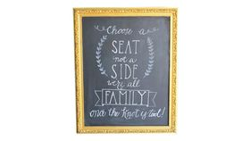 Image of a Large Gold Chalkboard