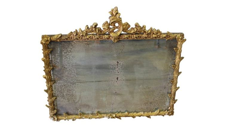 Picture of a Carved Victorian Mirror