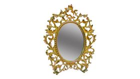 Image of a Victorian Small Gold Mirror