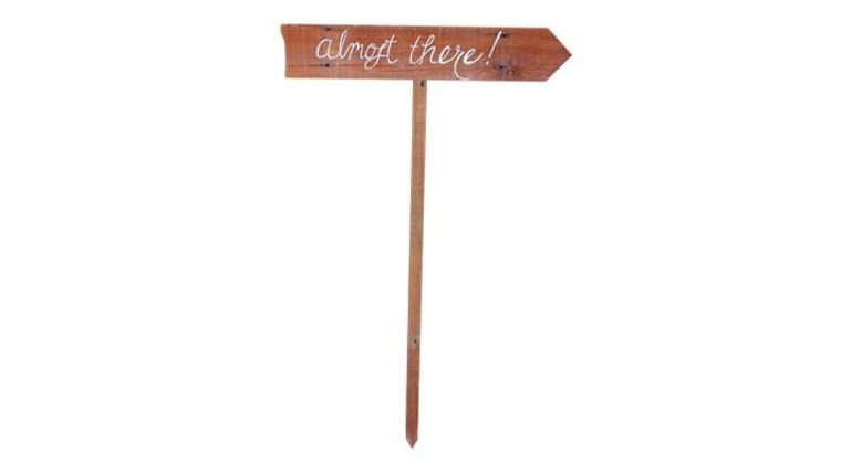 Picture of a Almost There Reclaimed Wood Arrow