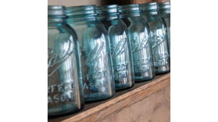 Picture of a Blue Mason Jars