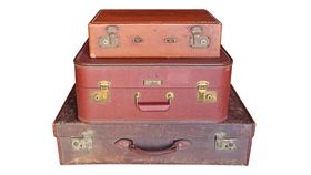 Image of a Vintage Brown Suitcases