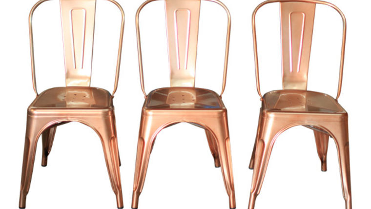 Image of a The Lincoln: Copper Chairs