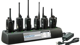 Image of a 6-Unit Bank Charger for VX-354 two-way radio
