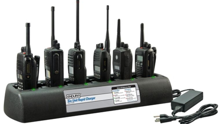 Picture of a 6-Unit Bank Charger for VX-354 two-way radio