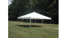 Image of a 20x20 Frame tent (white)