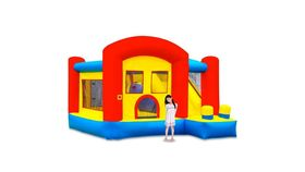 Image of a Small Bounce House/Slide Combo