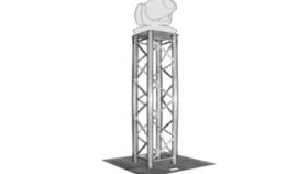 Image of a Truss - Global Truss 6.5 FT Aluminum Truss Lighting Tower