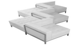 Image of a Lounge Zig Zag Leather Sofa