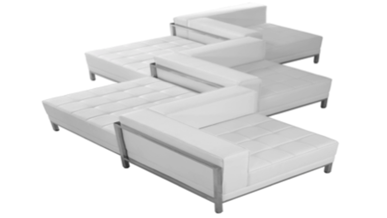 Picture of a Lounge Zig Zag Leather Sofa