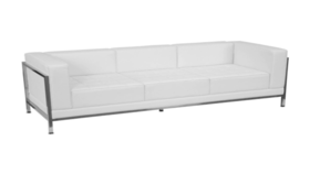 Image of a White Sofa - Leather