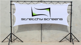 Image of a 9' x 12' SD Rear Projection Spandex Stretch Screen